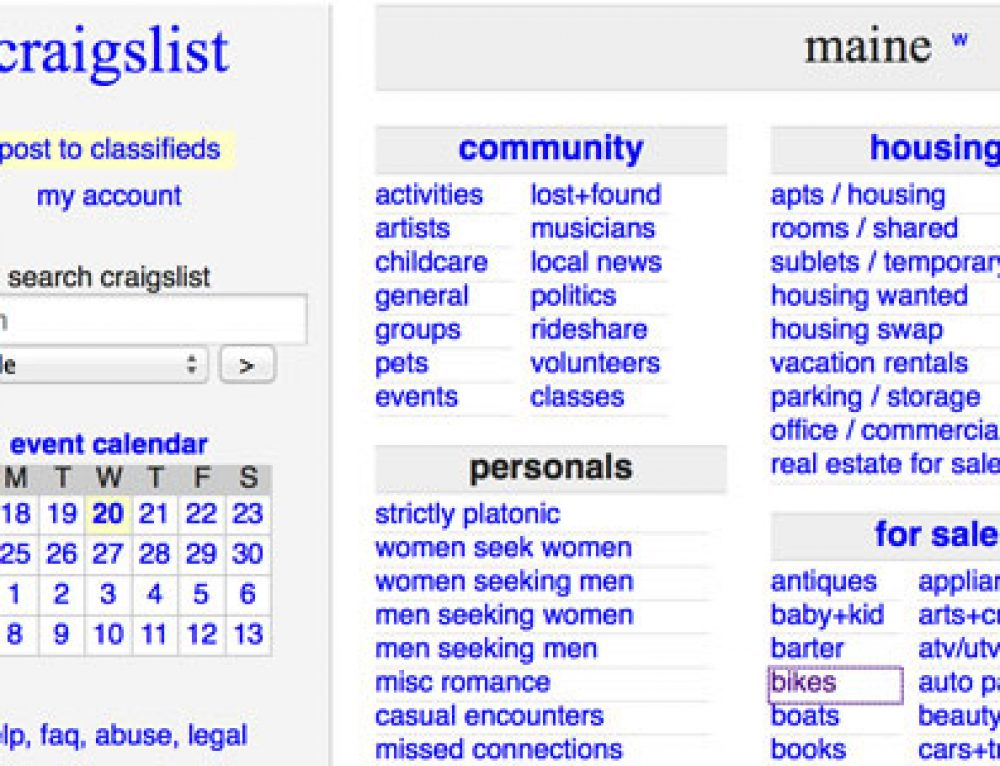 What Could Company Use Craigslist Maine For?