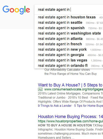 Research Real Estate Keywords