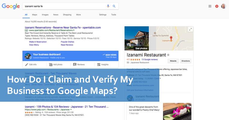 How Do I Claim and Verify My Business to Google Maps