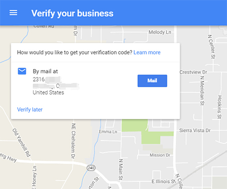 google my business verify your business