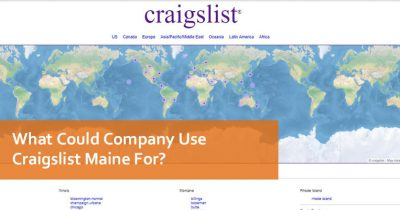 What Could Company Use Craigslist Maine For