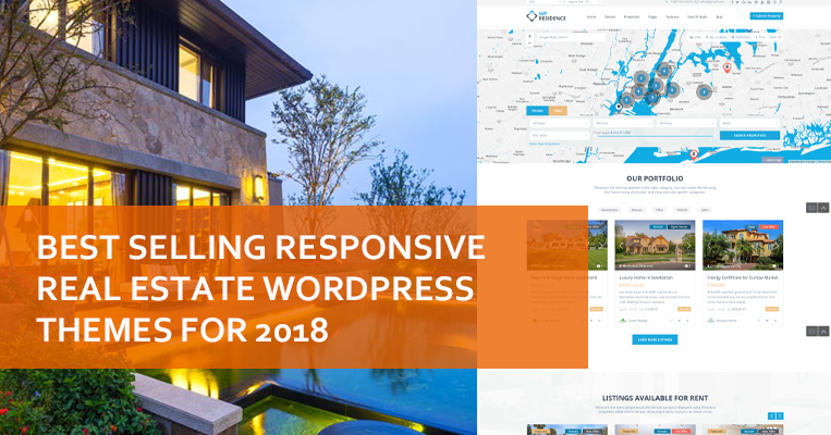 Best Selling Responsive Real Estate WordPress Themes For 2018 | Seo ...