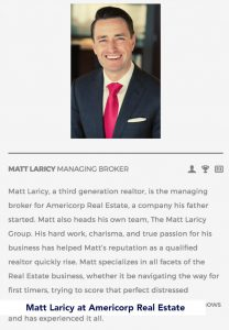 Matt Laricy at Americorp Real Estate