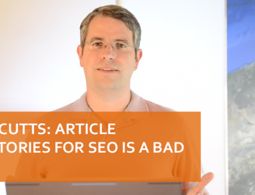 Matt Cutts: Article Directories for SEO is A Bad Idea